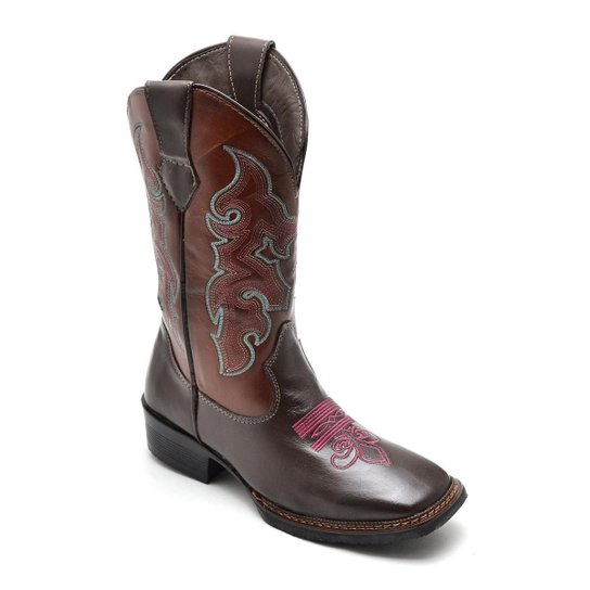 f6ee0ed16 Bota Top Franca Shoes Country Feminino - Café - Compre Agora   Zattini