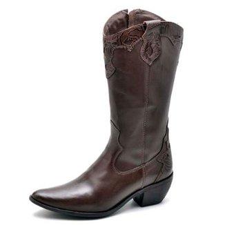 5c599c05f8b Bota Top Franca Shoes Country Bico Fino Feminina