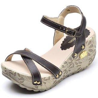 f634c64052 Sandália Betina Beker Top Franca Shoes Anabela Feminina