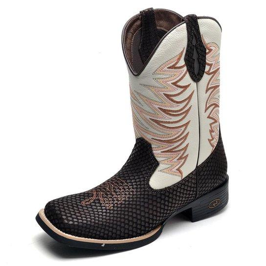 b19ada57fb0ec Bota Country Top Franca Shoes Bico Quadrado Masculina - Café | Zattini