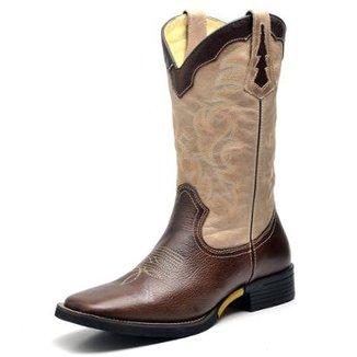 Bota Couro Country Texana Top Franca Shoes Fossil Masculino 567261007a2