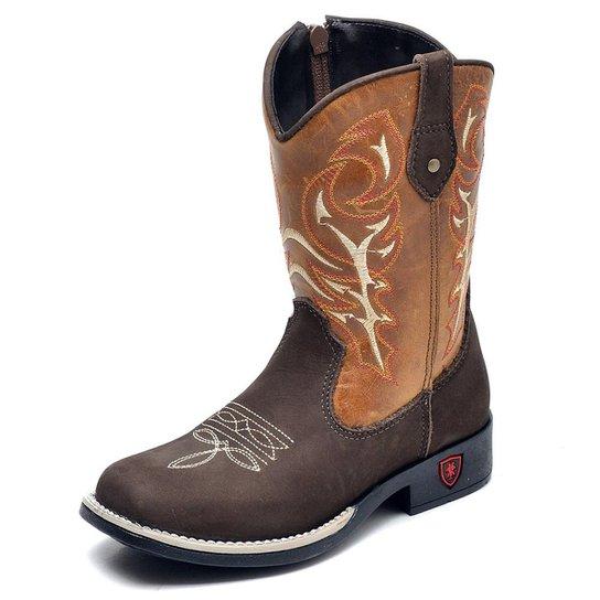 3c21c306b35149 Bota Infantil Country Texana Top Franca Shoes Masculina - Café