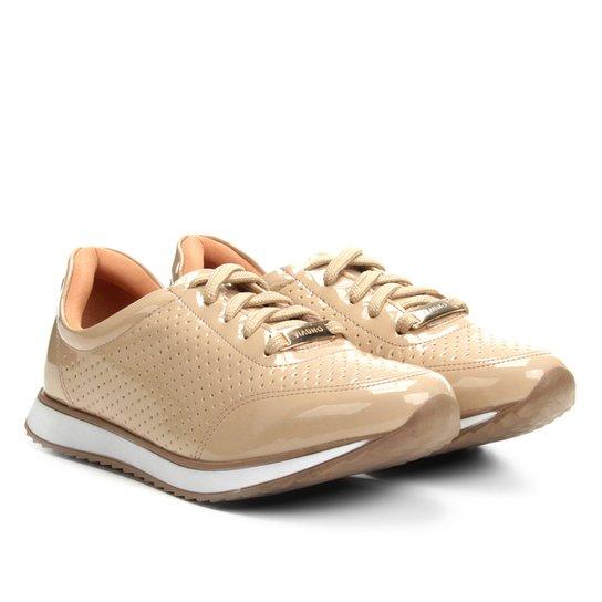e368702f9 Tênis Jogging Via Uno Verniz Laser Cut Feminino - Nude | Zattini