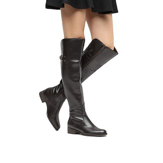 68842df22 Bota Over The Knee Via Uno Salto Baixo Feminina
