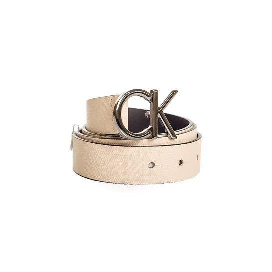 Cinto Fivela Ck Calvin Klein - Nude - Compre Agora   Zattini 3303b58bba