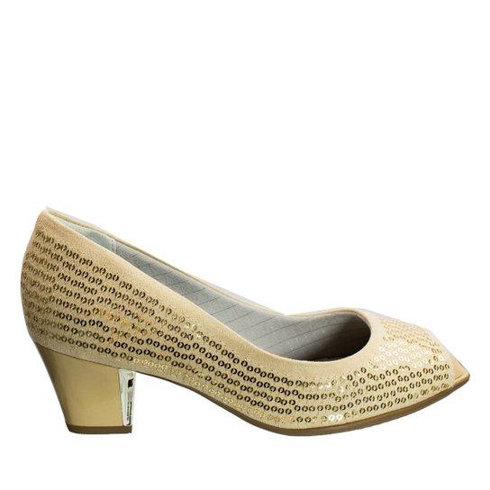 8b78921c75 Sapato Peep Toe Piccadilly Microfibra 714057 - Nude - Compre Agora ...