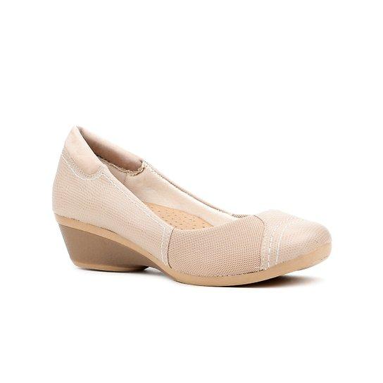 a410db3ba Sapato Anabela Feminino Usaflex Nude | Zattini