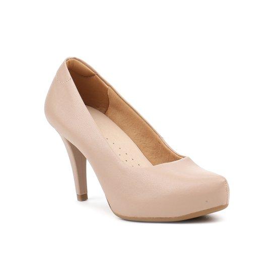 8b661818f2 Sapato de Salto Feminino Usaflex Nude - Compre Agora