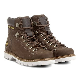 d5f8c2479 Bota Couro Coturno West Coast Worker Masculina