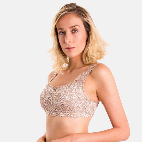 951b581e7e Sutiã Duloren Top Em Renda Malagueta - Nude - Compre Agora