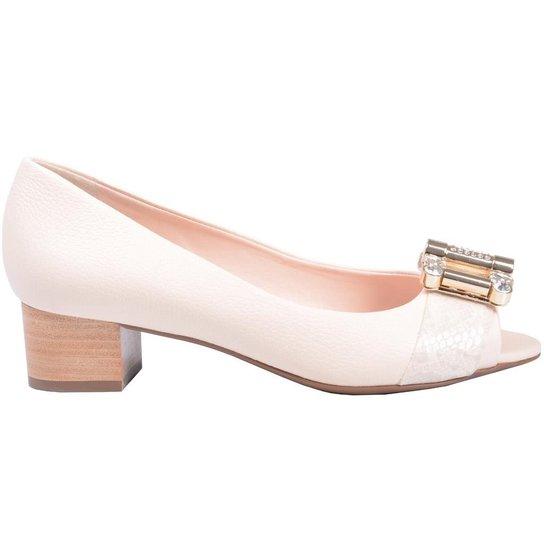 8f104977e0 Sapato Peep Toe Jorge Bischoff - Nude - Compre Agora