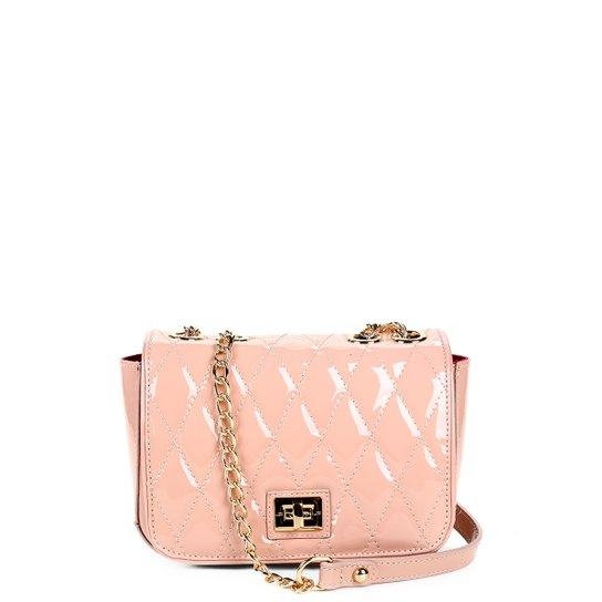 31a3ecfa3 Bolsa Couro Jorge Bischoff Mini Bag Verniz Feminina - Rosa Claro ...