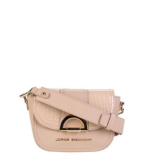 96e88e73f2cda Bolsa Couro Jorge Bischoff Mini Bag Croco Alça Transversal Feminina