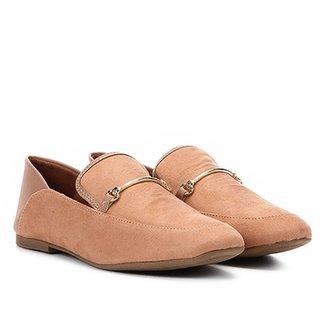 5320c492d2 Mocassim Vizzano Detalhe Metalizado Loafer Feminino