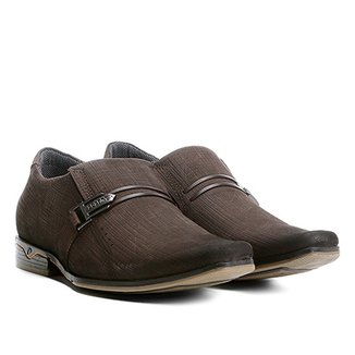 9caf111be Sapato Casual Couro Pegada Textura Masculino