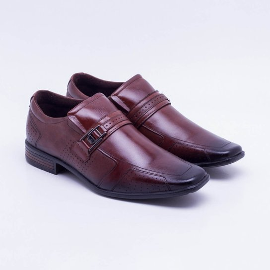 de2c21374 Sapato Social Couro Pegada Fivela Pinhão Masculino - Compre Agora ...