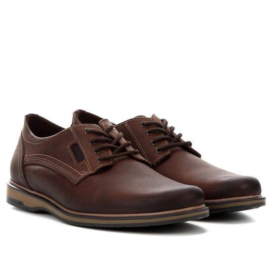 01070f195 Sapato Social Couro Pegada Masculino - Marrom - Compre Agora