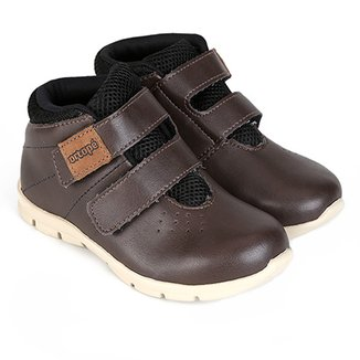 00ee768bf Bota Infantil Cano Curto Couro Ortopé Baby Masculina