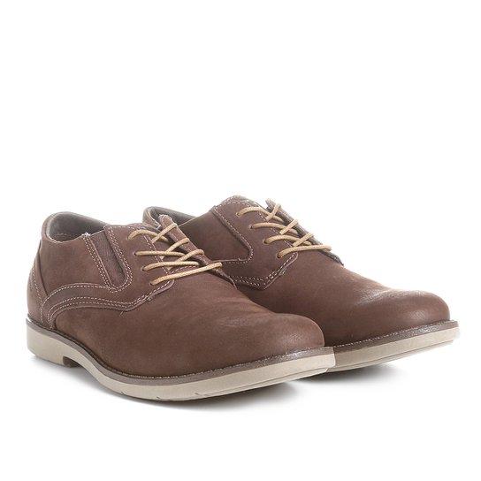 65a02b083c1c2 Sapato Casual Couro Kildare com Cadarço Masculino - Café | Zattini