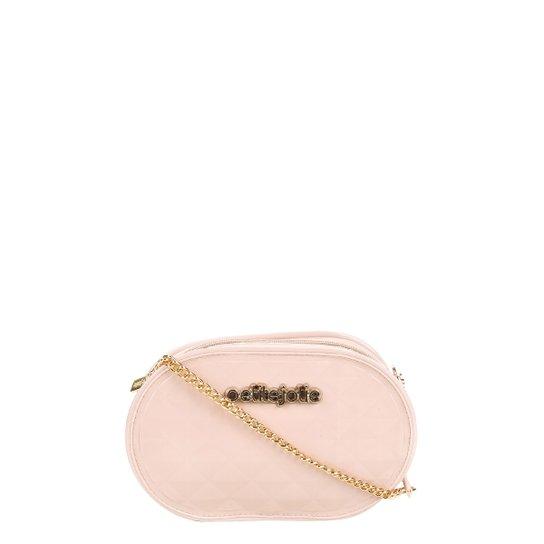 456019e5cf Bolsa Petite Jolie Mini Bag Matelassê Alça Corrente Feminina - Bege Claro