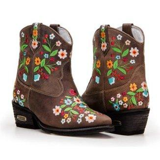 893b1d70ff Bota Texana Country Capelli Boots Cano Curto Detalhes Bordado Feminina