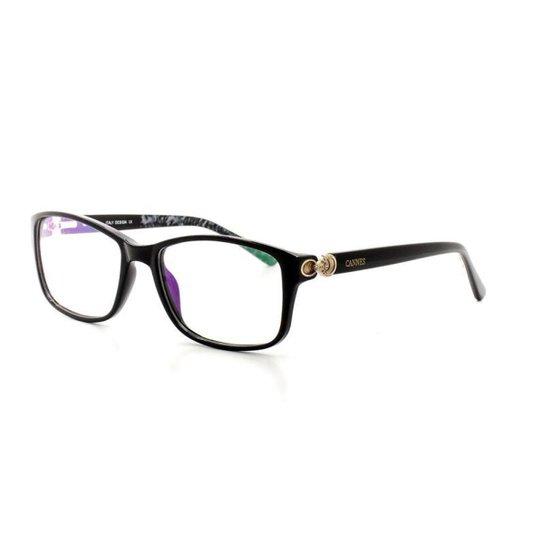 b251bf6a49785 Armação De Óculos de Grau Cannes 2275 T 52 C 3 Feminino - Marrom+Amarelo