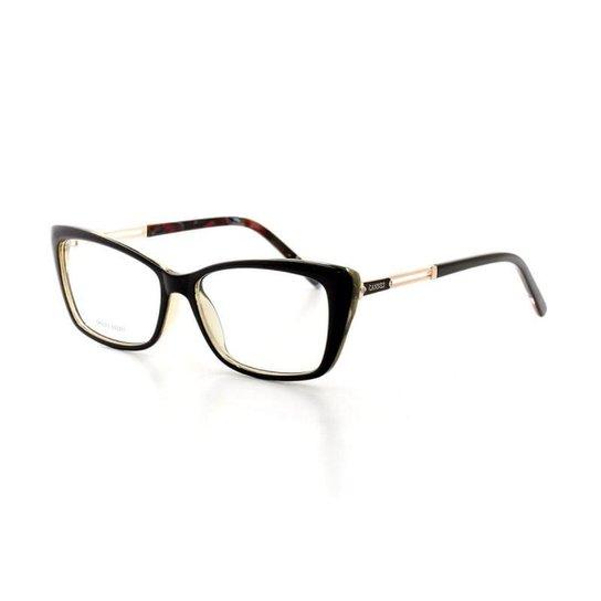 1d8dcad3c0202 Armação De Óculos de Grau Cannes SK5013 T 53 C 1 Feminino - Marrom+Amarelo