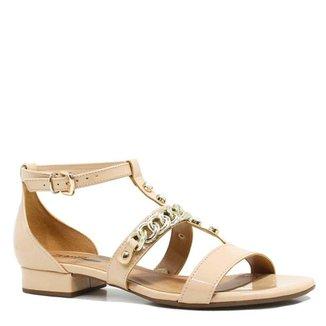 fd09c58229 Sandália Zariff Shoes Rasteira Metais Fivela