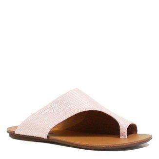 5537f135fe Rasteira Zariff Shoes Verniz Bico Aberto · Confira · Rasteira Zariff Shoes  com Paetê