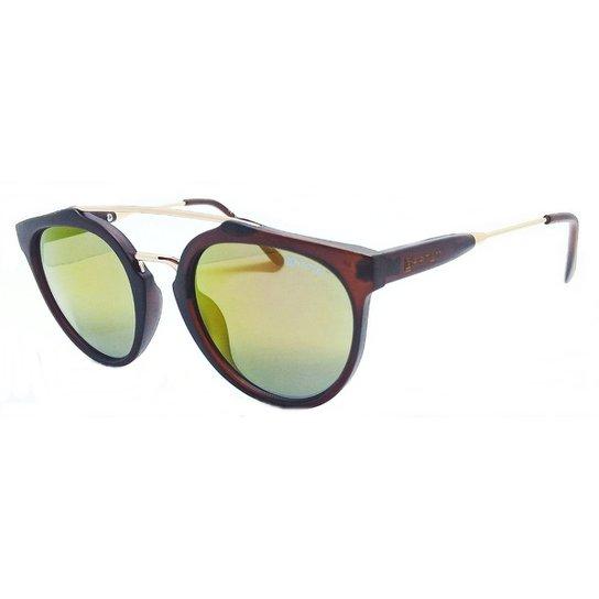 26f316207 Óculos De Sol Roundworld Garnet Original Espelhado - Marrom+Amarelo
