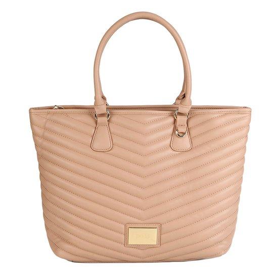 b6d4ad3b0 Bolsa Santa Lolla Shopper Matelassê Feminina - Nude - Compre Agora ...