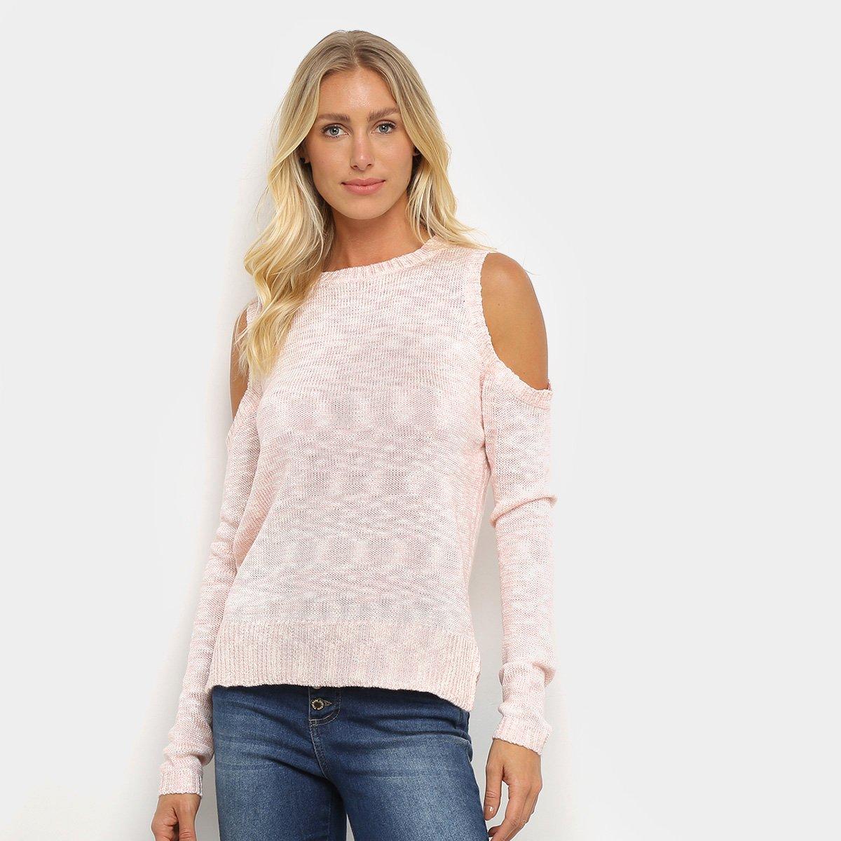 Suéter Tricot Facinelli Recorte Ombro Feminino
