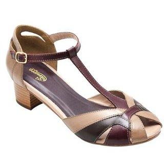 a8571b518e Sandalia Com Salto SapatoFran de Couro Confortável Feminina