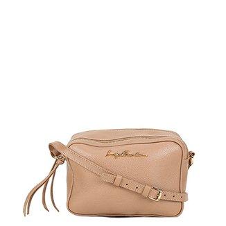 85303842493 Bolsa Couro Luiza Barcelos Mini Bag Divisórias Feminina