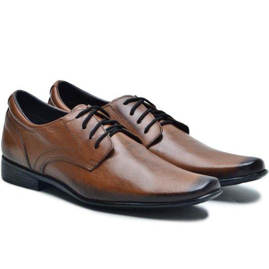 1ca9c1d97 Sapato Social Couro Ded Calçados Com Cadarço Masculino - Café | Zattini