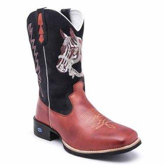 17fc872712a Bota Texana em Couro Dexshoes Masculina