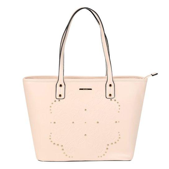 aef6622a58 Bolsa WJ Shopper Apliques Feminina - Nude - Compre Agora
