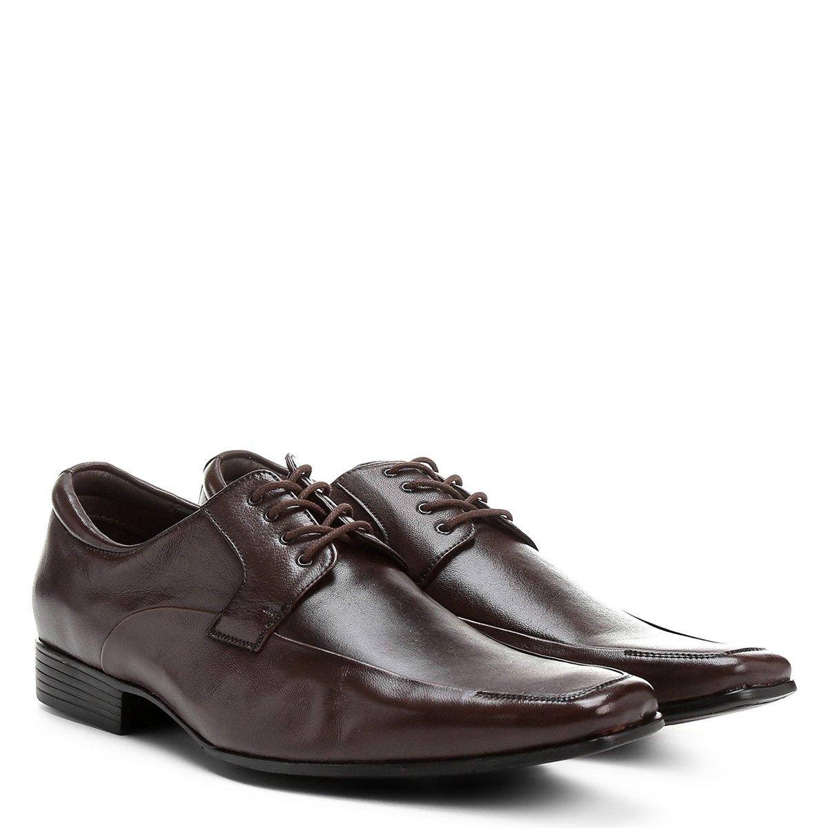 1bd8663d3b Sapato Couro Social Shoestock Amarração Clássico