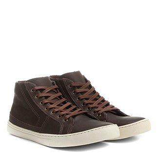 f92140c830 Sapatênis Couro Shoestock Cano Alto Recortes Masculino