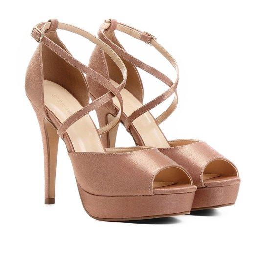 8ea865c9f0 Sandália Shoestock Festa Meia Pata - Nude - Compre Agora
