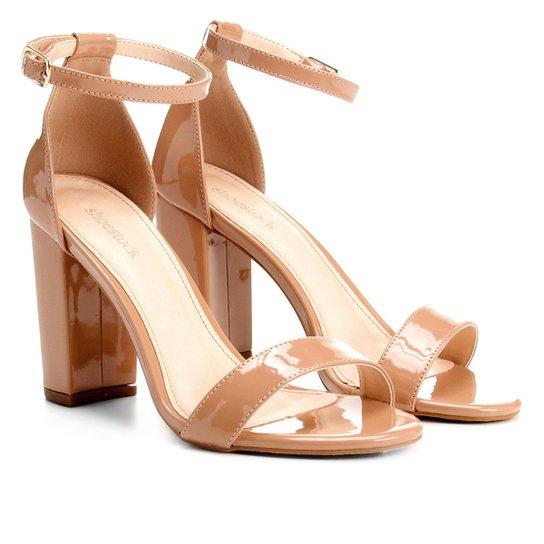 2c876be3b Sandália Shoestock Salto Grosso Naked Feminina - Compre Agora