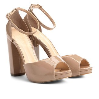 5955849e96 Sandália Shoestock Meia Pata Salto Grosso Feminina