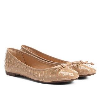 6450123484 Sapatilha Shoestock Matelassê Verniz Feminina