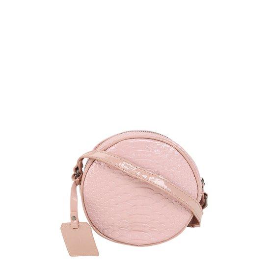 b855fabd2c Bolsa Shoestock Tiracolo Redonda Feminina - Nude - Compre Agora ...