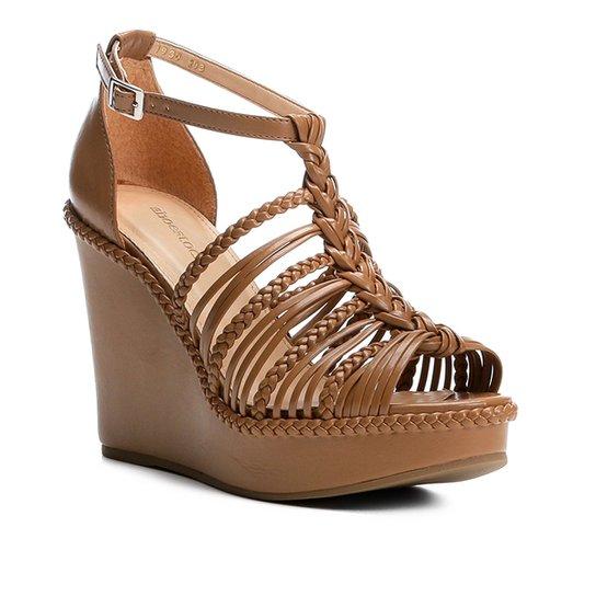 1f9ffc3e5 Sandália Anabela Shoestock Trança Feminina - Nude - Compre Agora ...