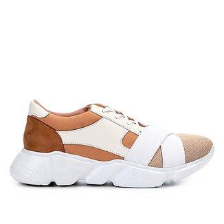 27edad017e4 Tênis Couro Shoestock Chunky Sneaker Neoprene Feminino