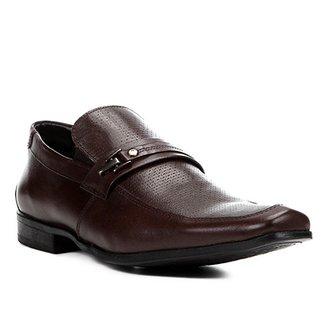 e7933a1c25 Sapato Social Couro Shoestock Textura Fivela Masculino