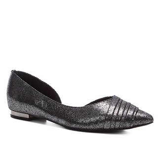 2916d431ef Sapatilha Shoestock Bico Fino Plissada Feminina