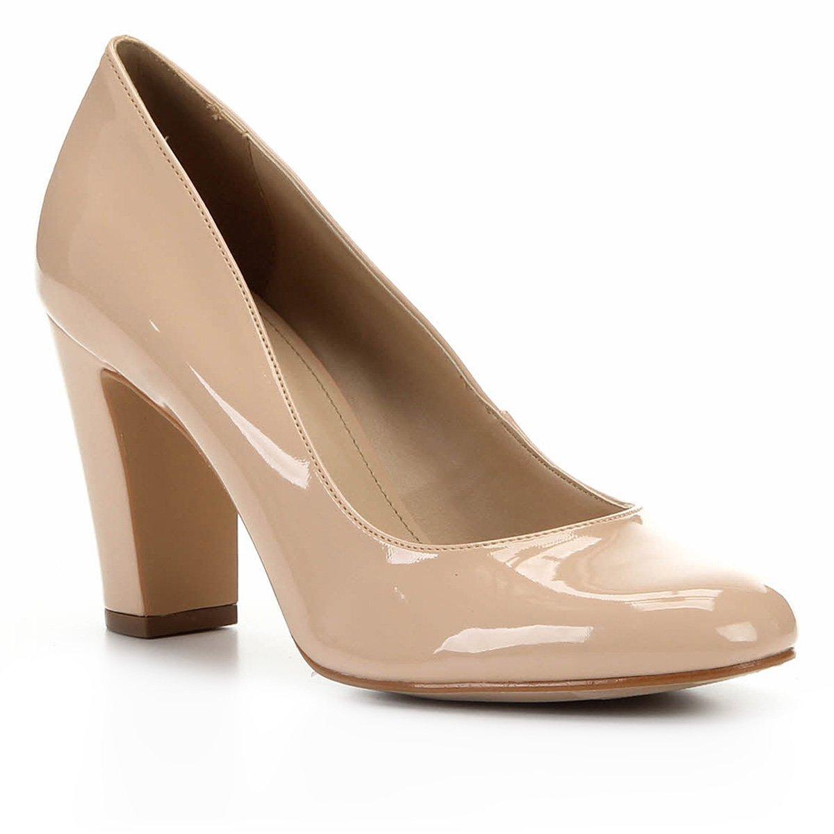 Scarpin Shoestock Verniz  Salto Alto