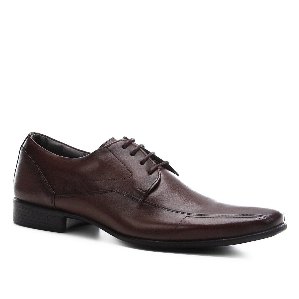 Sapato Social Shoestock Couro Liso Masculino